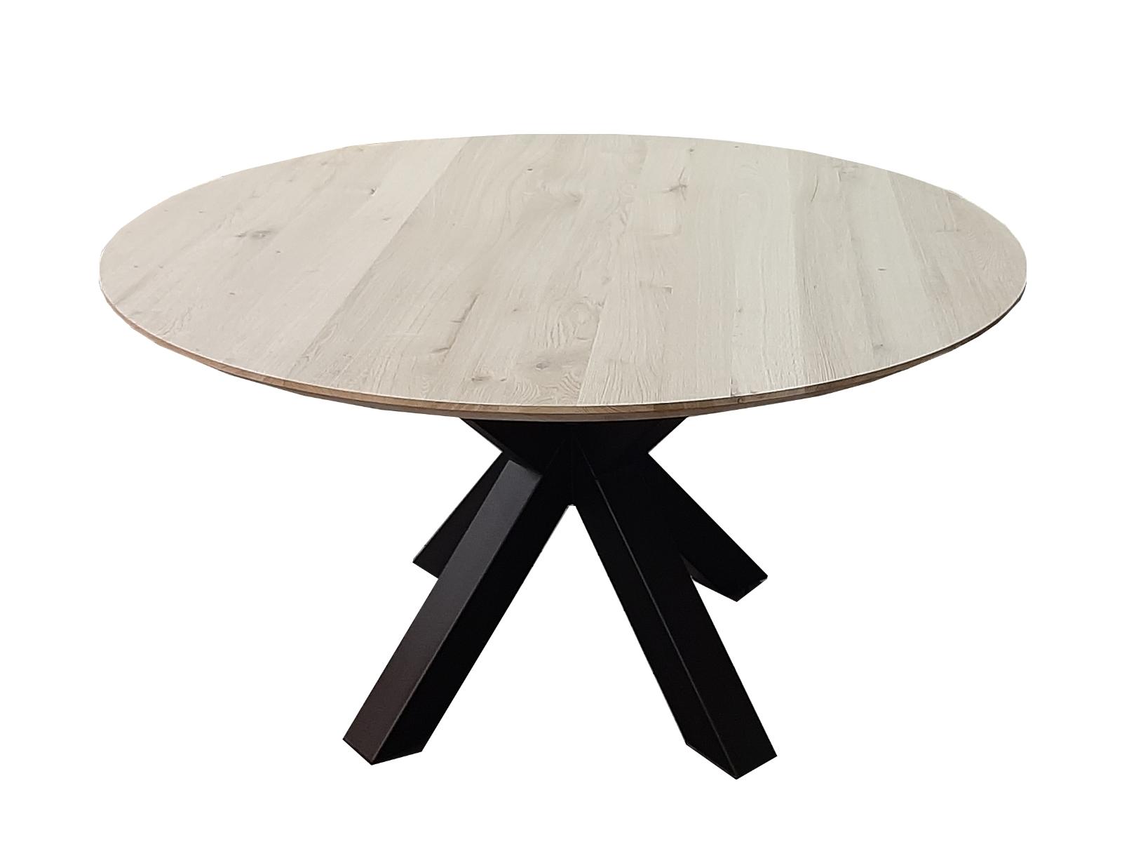 eiken tafel rond met matrixpoot