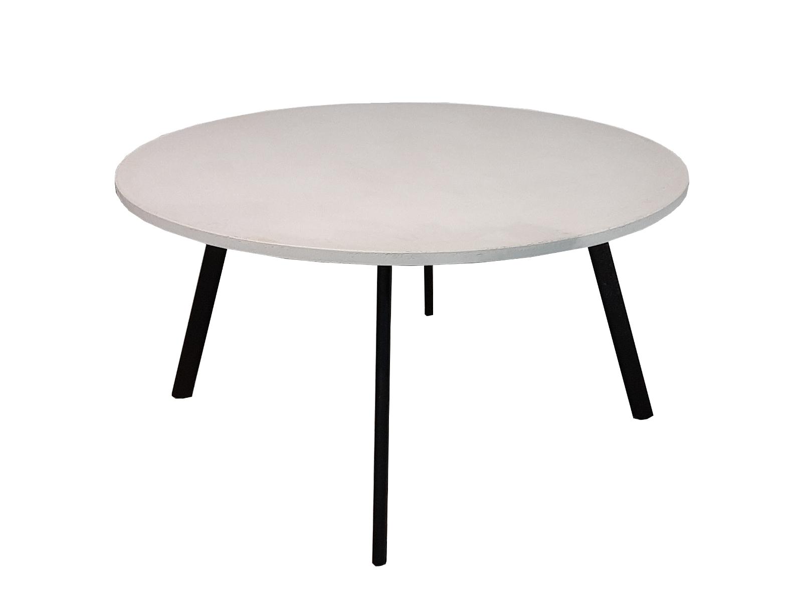 ronde tafel betonlook krijt wit