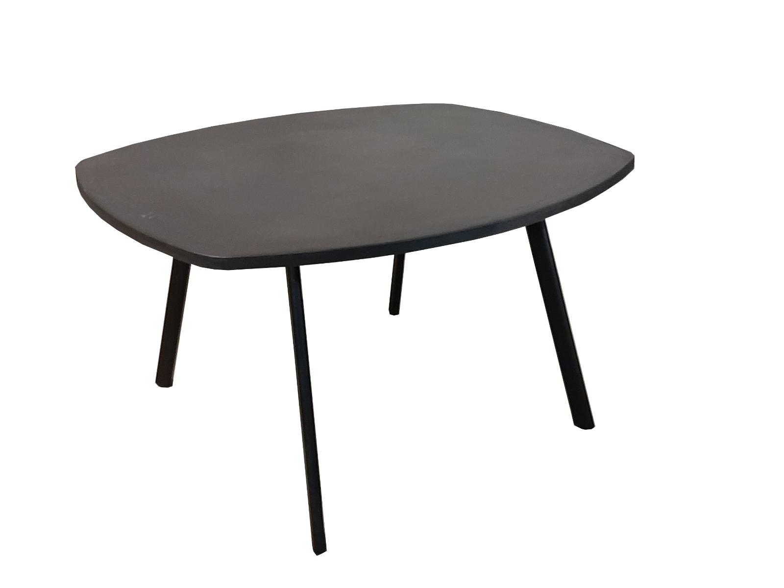 rovale tafel betonlook antraciet zwart